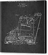 Vintage Typewriter Patent From 1918 Canvas Print by Aged Pixel