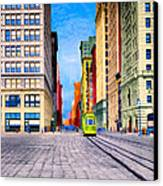 Vintage View Of New York City - Union Square Canvas Print