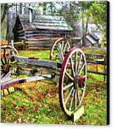 Vintage Wagon On Blue Ridge Parkway I Canvas Print by Dan Carmichael