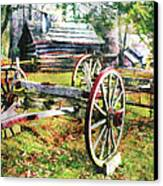 Vintage Wagon On Blue Ridge Parkway II Canvas Print by Dan Carmichael