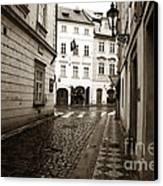 Vintage Walk In Prague Canvas Print by John Rizzuto