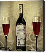 Vintage Wine Lovers Canvas Print