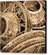 Vintage Wire Wheels Canvas Print