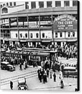 Vintage Wrigley Field Canvas Print by Horsch Gallery