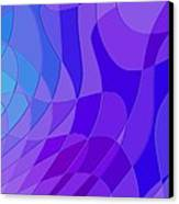Violet Blue Abstract Canvas Print
