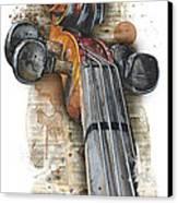 Violin 01 Elena Yakubovich Canvas Print by Elena Yakubovich