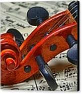 Violin Scroll Up Close Canvas Print