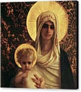 Virgin And Child Canvas Print by Antoine Auguste Ernest Herbert