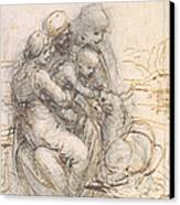 Virgin And Child With St. Anne Canvas Print by Leonardo da Vinci
