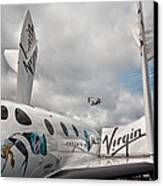 Virgin Galactic Vss Enterprise With Osprey Canvas Print by Shirley Mitchell