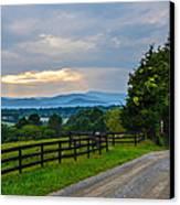 Virginia Road At Sunset Canvas Print