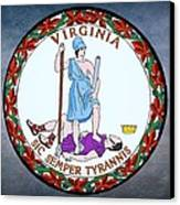 Virginia State Seal Canvas Print by Movie Poster Prints