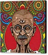 Visionary Gandhi Canvas Print