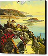 Visit Switzerland 1895 Canvas Print by Mountain Dreams