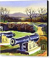 Visitors Welcome At Fort Davidson Canvas Print by Kip DeVore