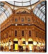 Vittorio Emanuele II Gallery Milan Italy Canvas Print