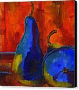 Vivid Pears Art Painting Canvas Print by Blenda Studio