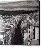 Void City Canvas Print by Kostas Koutsoukanidis