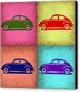 Vw Beetle Pop Art 1 Canvas Print by Naxart Studio
