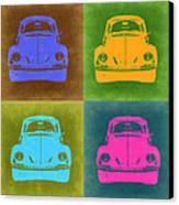 Vw Beetle Pop Art 6 Canvas Print by Naxart Studio