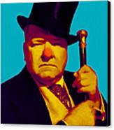 W C Fields 20130217m135 Canvas Print by Wingsdomain Art and Photography