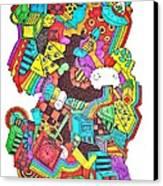 Wackadoo Canvas Print by Chelsea Geldean
