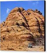 Wadi Rum In Jordan Canvas Print by Robert Preston