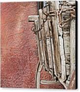 Wagon At The Hacienda Canvas Print by Robert Bascelli