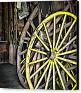 Wagon Wheels Canvas Print by Colleen Kammerer