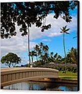Waialae Beach Park Bridge Too Canvas Print