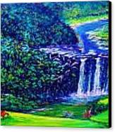 Waimea Falls - Horizontal Canvas Print by Joseph   Ruff