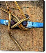 Waiting - Boat Tie Cleat By Sharon Cummings Canvas Print by Sharon Cummings