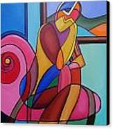 Waiting Canvas Print by Deborah Glasgow