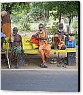 Waiting For Bus No 42 To Nirvana Canvas Print by Lee Stickels