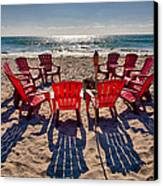 Waiting For The Party Canvas Print by Peter Tellone