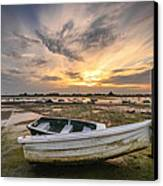 Waiting For The Tide Canvas Print by Jacqui Collett