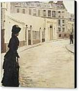 Waiting Paris Rue De Chanteaubriand Canvas Print by Jean Beraud