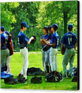 Waiting To Go To Bat Canvas Print