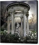 Wake Up My Sleepy White Roses - Sunlight Version Canvas Print by Bedros Awak