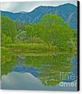 Walden Pond Spring Reflections Canvas Print by George Tuffy