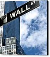 Wall Street Street Sign New York City Canvas Print