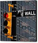 Wall Street Traffic Light New York Canvas Print by Amy Cicconi
