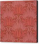 Wallpaper Design Canvas Print by Victorian Voysey