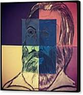 Walt Whitman In Color Canvas Print by Nickolas Kossup