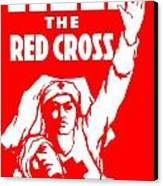 War Poster - Ww1 - Help The Red Cross Canvas Print by Benjamin Yeager