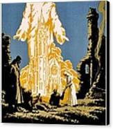 War Poster - Ww1 - Christians Support Red Cross Canvas Print