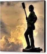 War Thunder - The Clouds Of War - 4th New York Independent Battery Near Devils Den Gettysburg Canvas Print