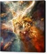Warm Carina Nebula Pillar 3 Canvas Print by Jennifer Rondinelli Reilly - Fine Art Photography