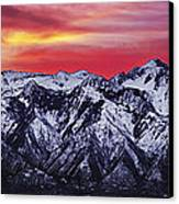 Wasatch Sunrise 3x1 Canvas Print by Chad Dutson