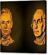 Washington And Lincoln Canvas Print by David Dehner